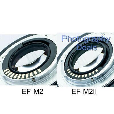 Viltrox EF-M2 II AF Adapter Focal Reducer Booster For Canon EF Lens to M43 MFT 6