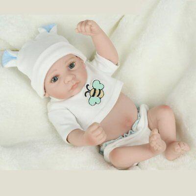 Handmade Newborn Baby Boy Doll Full Silicone Vinyl Realistic Reborn Dolls Xmas 3