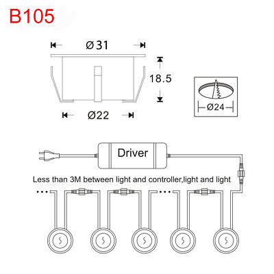 FVTLED 10x Lampe de Spot A LED pour Terrasse Enterre IP67 DC12V Blanc hot 2