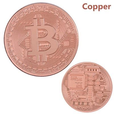 3PCS Bitcoin Commemorative Round Collectors Coin Bit Coin is Gold Plated Coins 10