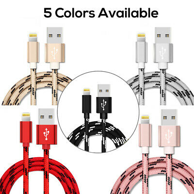 1M 2M 3M USB Lightning Charger Cable Cord Data for Apple iPhone iPad iPod Air 3 3