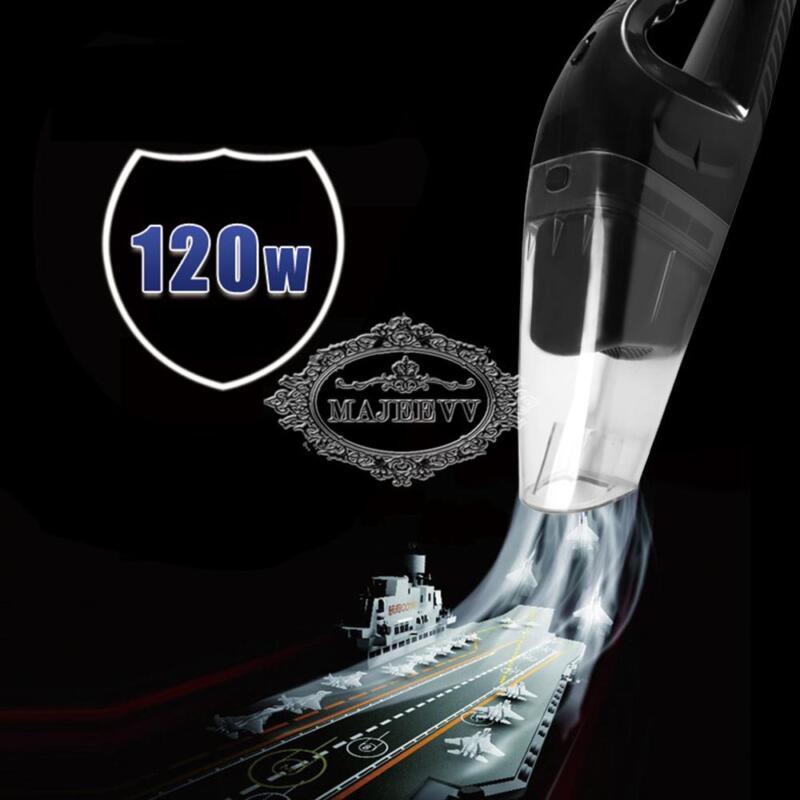 Nuevo Moda Aspirador coche Limpiador 120W 12V  mano mojado seco pequeño Portátil 5