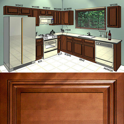 all solid wood kitchen cabinets geneva 10x10 rta 1 499 00 picclick rh picclick com Ready to Assemble Cabinets Solid Wood Pantry Cabinets