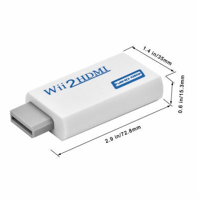 Wii HDMI Adapter 1080p Wii to HDMI Converter 3.5mm Adapter Audio HD Video Output 7