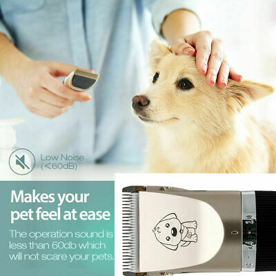 NEW Electric Animal Pet Dog Cat Hair Trimmer Shaver Razor Grooming Quiet Clipper 2