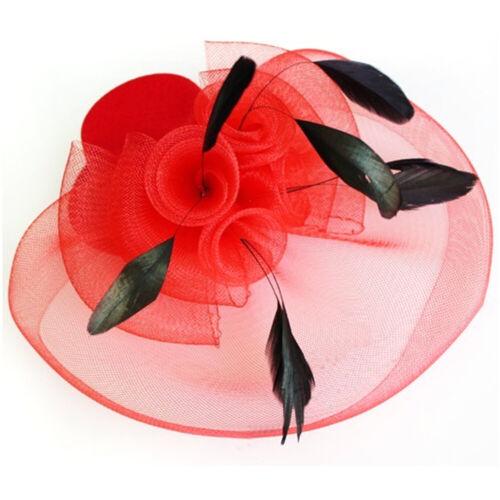 Large Fascinator Headband Hat Weddings Ladies Day Races Royal Ascot Equip 2