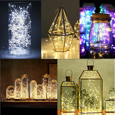20/50/100 LEDs AA Battery Operated Mini LED Copper Wire String Fairy Lights 10M 4
