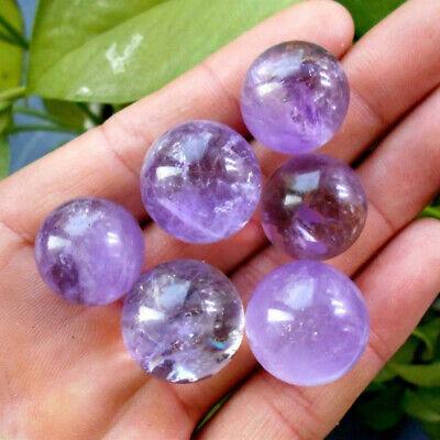 1Pc Natural Amethyst Quartz Stone Sphere Crystal Fluorite Ball Healing Gemstone 6