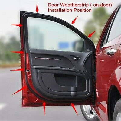 Door Opening Weatherstrip Seal High Quality Rear Right for Nissan SENTRA 2013-18 4