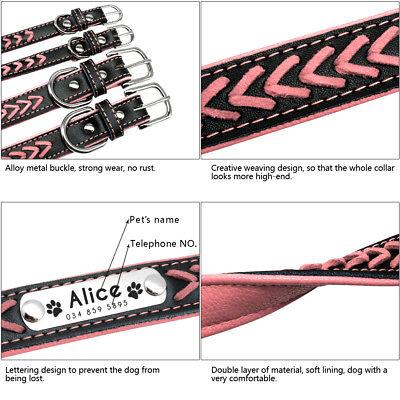 Collar de piel para perro grande suave Personalizable Collar grabado para perro 12