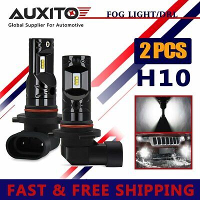 2x AUXITO H10 9140 9145 CSP LED Fog Light DRL Replace Halogen Lamp Globes 6000K 3