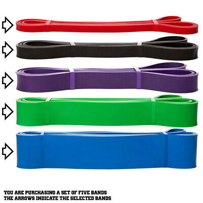 Resistance Bands Power Lifting Exercise Band Fitness Pull Up Band Latex UK 8