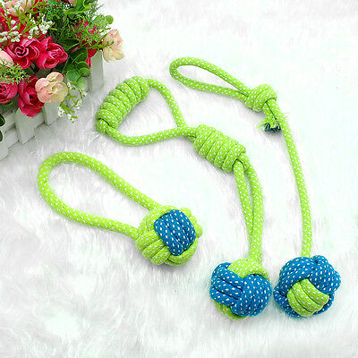 Braided Cotton Rope Pet Dog Interactive Toys for Dogs Chews Bite Training Play 7