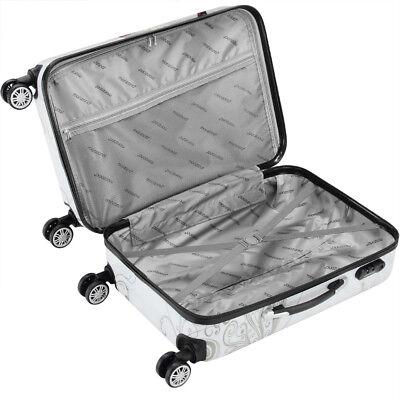 Monzana® Hartschalenkoffer Butterfly Trolley Reisekoffer Koffer M L XL 4 Rollen 6