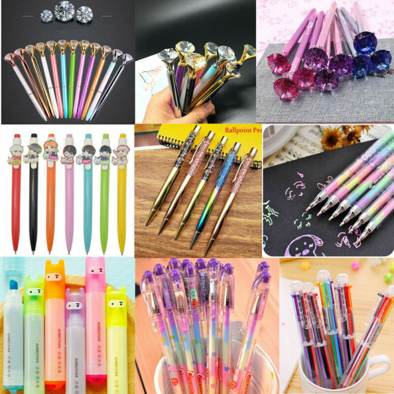 Black Gel Pen Colorful Ballpoint Business Writing Student School Stationery Tool 7