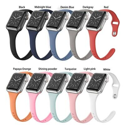 For Apple Watch Series 5/4/3/2 Replacement Silicone Soft Sport iWatch Band Strap 2