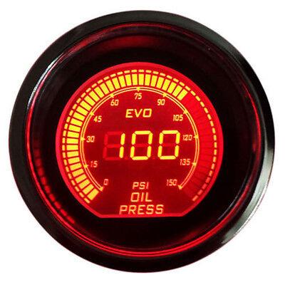 2inch 52mm OIL PRESS PRESSURE CAR DIGITAL LED METER GAUGE TINT LENS BLUE RED SH2