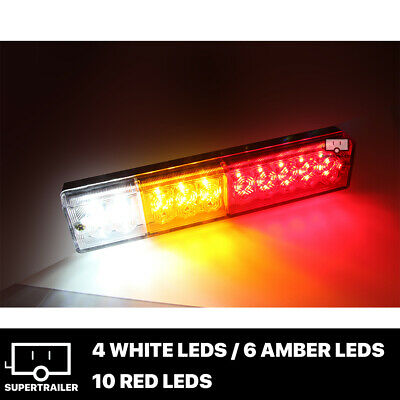 2x TRAILER LIGHTS 20 LED STOP TAIL INDICATOR REFLECTOR TRUCK CAMPER LIGHT 10-30V 2