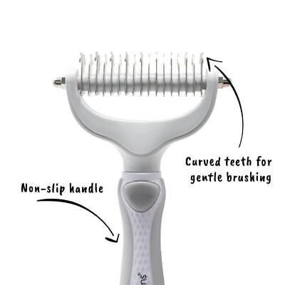 AllPetSolutions Dog Puppy Cat Pet Grooming - Comb, Slicker Brush, Dematting Tool 6