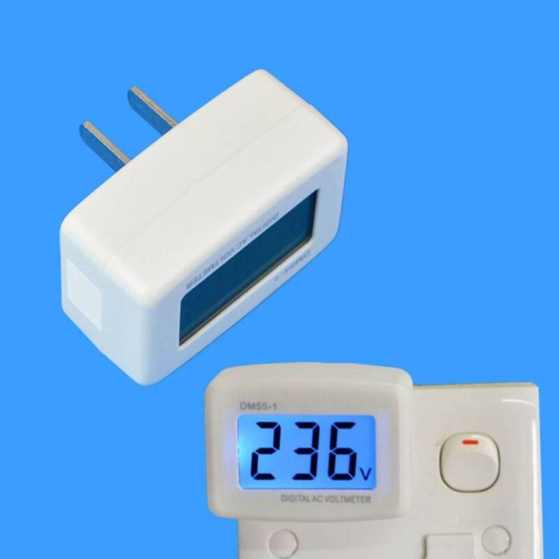 LCD Digital Voltmeter Volt Meter Monitor AC 110V US Plug 80-300V Voltage Testers 2