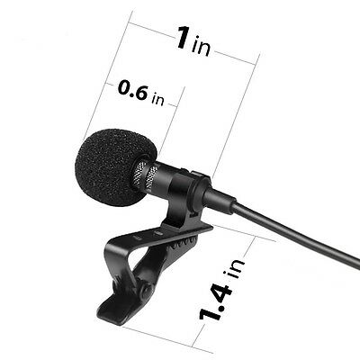 Blixxo Professional lavalier lapel Microphone for DSLR+GoPro.Valentines Day Gift