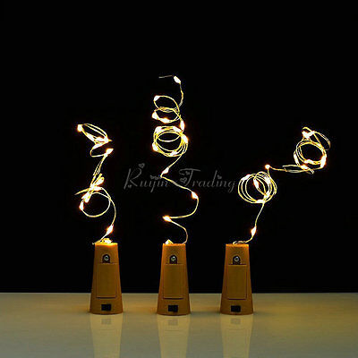 Cork Shaped 20 LED Night Light Starry Lights Wine Bottle Lamp For Wedding Party 7