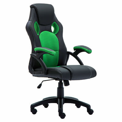 Office Chair Executive Racing Gaming Swivel Pu Leather Sport Computer Desk 8