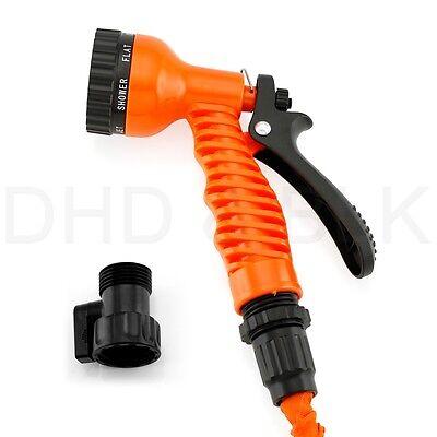 Deluxe 25 50 75 100 Feet Expandable Flexible Garden Water Hose w/ Spray Nozzle 11