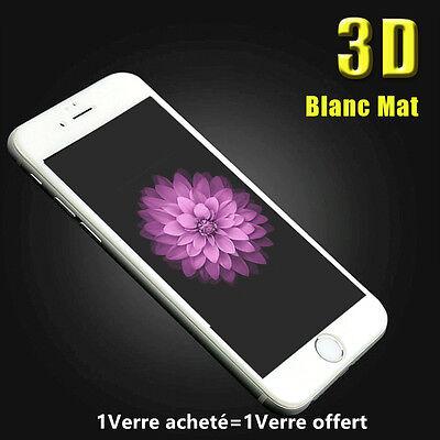 iPhone 8/7/6S/6 VITRE PROTECTION VERRE TREMPE 3D TRANSPARENT FILM ECRAN INTÉGRAL 9