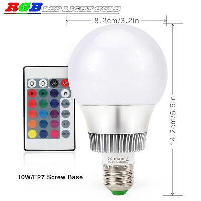 10W E27 RGB LED Birne Glühlampe 16 Farbwechsel Bunte Licht Mit IR Fernbedienung