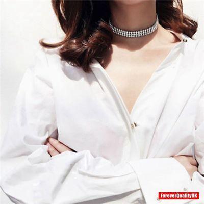 Fashion Women Full Diamond Crystal Rhinestone Choker Necklace Wedding Jewellery 8