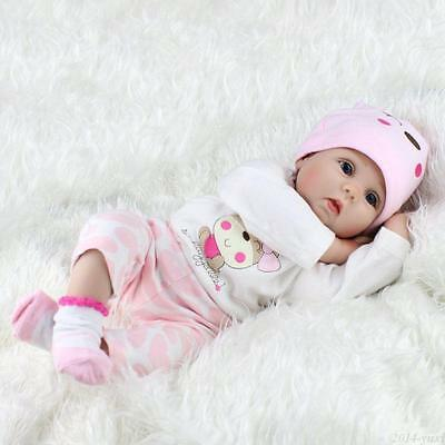 "22"" Reborn Baby Dolls Vinyl Silicone Handmade Girl Kids Gift Toys Newborn Baby 4"