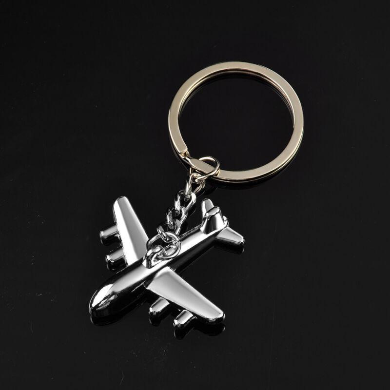 Classic 3D Simulation Model airplane plane Keychain Key Chain Ring Keyring Gift 4