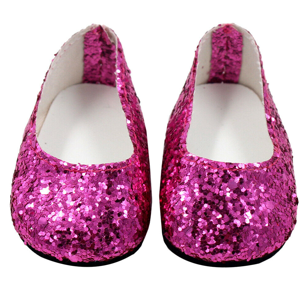 6Pairs Modern Doll Shoes Sparkle Sequined Shoe For 18 inch American Girl Doll 8