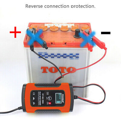 Car Battery Charger 12V 5A LCD Intelligent Automobile Motorcycle Pulse Repair UK 10