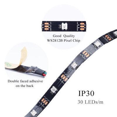 WS2812B Strip LED Lights 5050 RGB 30/60/144 LED/M IC Individual Addressable DC5V 12