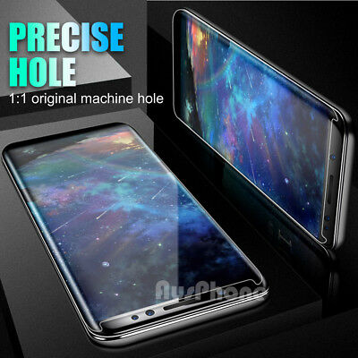 6D FULL COVER Tempered Glass Samsung Galaxy S9 S8 Plus Note 9 8 Screen Protector 7