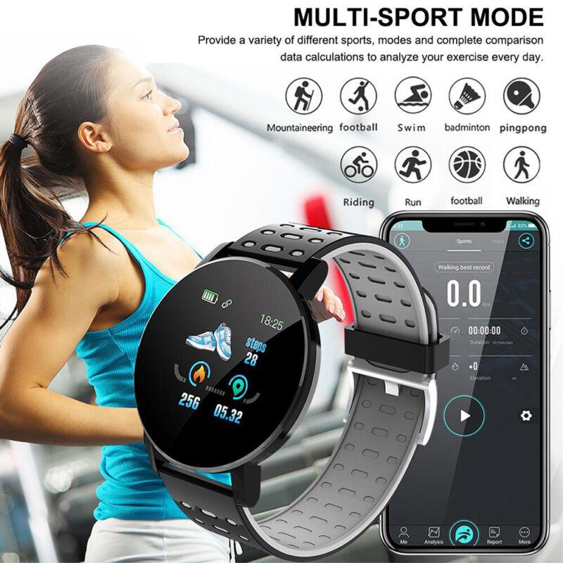 Smart Watch Fitness Tracker Blood Pressure Heart Rate Tempered Mirror Waterproof 4