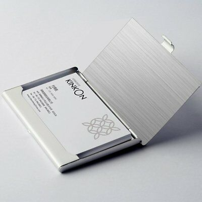 Pocket Stainless Steel Metal Business Card Holder Case Id Credit