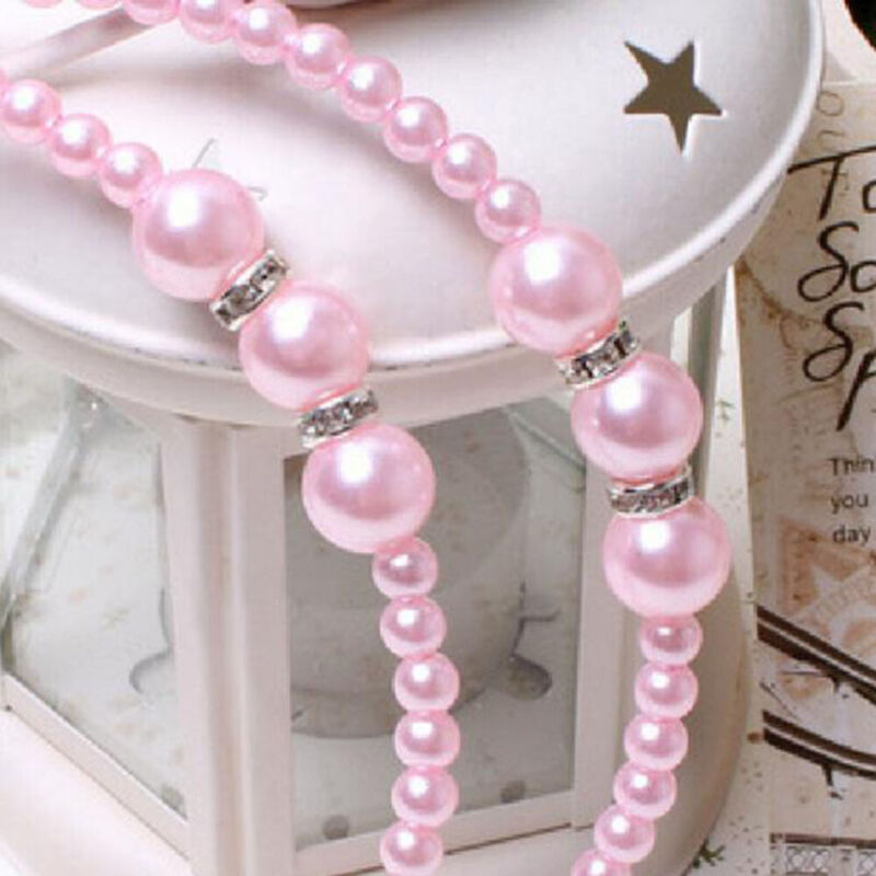 Women Rhinestone Hair Band Girls Kids Pearl Princess Women Headbands Hair Style 5
