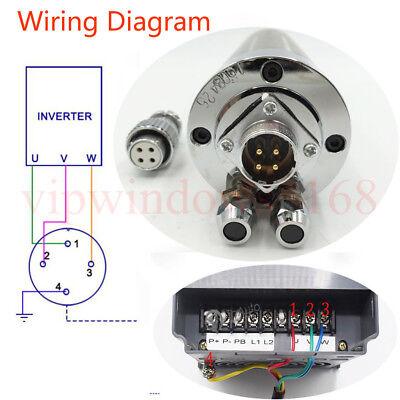 Water-cooled 2.2KW Spindle Motor ER20 D80MM&3.7KW VFD Inverter&Pump&Bracket Kit 3