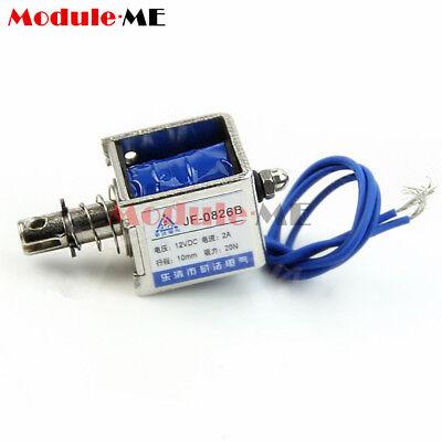 DC6V/12V/24V Push Pull Type Open Frame Solenoid Electromagnet Reset 10mm 5N/2N 5