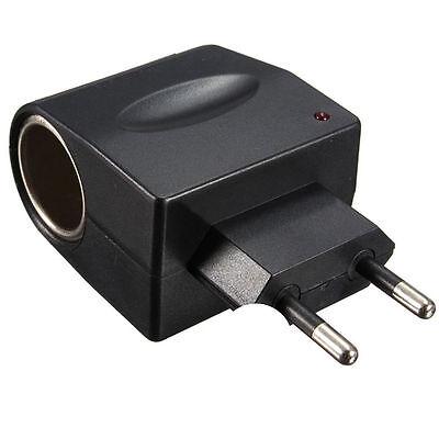 EU Stecker 220V AC Power zu 12V DC Auto Zigarettenanzünder Konverter Adapter AA 6