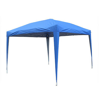 3x3m Pop Up Gazebo Marquee Outdoor Garden Party Tent Canopy 4 Side Panels New 7