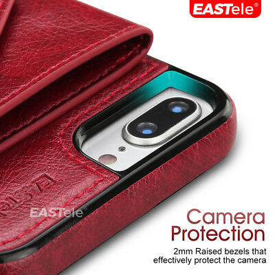NEW iPhone 11 Pro XS MAX XR 8 7 Luxury Leather Wallet Card Shockproof Case Cover 6