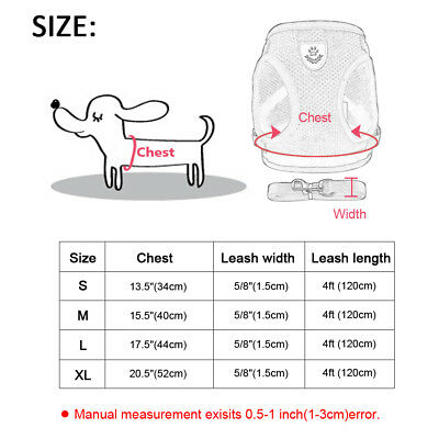 Cat Walking Jacket Harness and Leash Pets Puppy Kitten Clothes Adjustable Vest 12