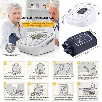 Upper Arm Blood Pressure Pulse Monitor Health Care Digital LCD Sphygmomanometer 4