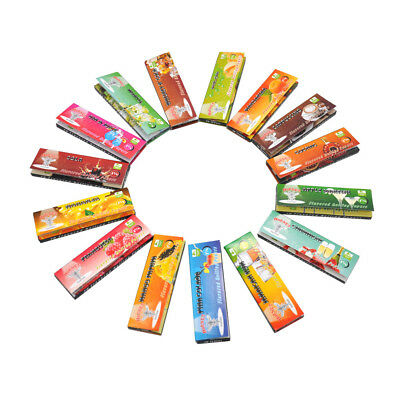 5 Fruit 250 Leaves Flavored Smoking Cigarette Hemp Tobacco Rolling Papers 3