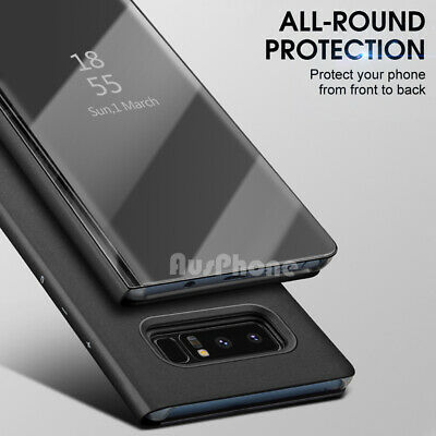 Mirror Shockproof Flip Case Cover  For Samsung Galaxy S10 Note 10 9 S9 S8 Plus 8