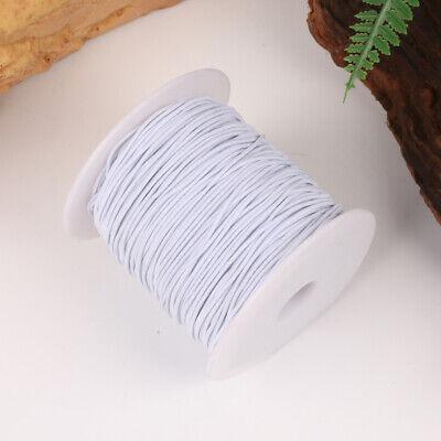 100M Rond Cordon Élastique Bande Couture Blanc pour Coudre Artisanat DIY 10